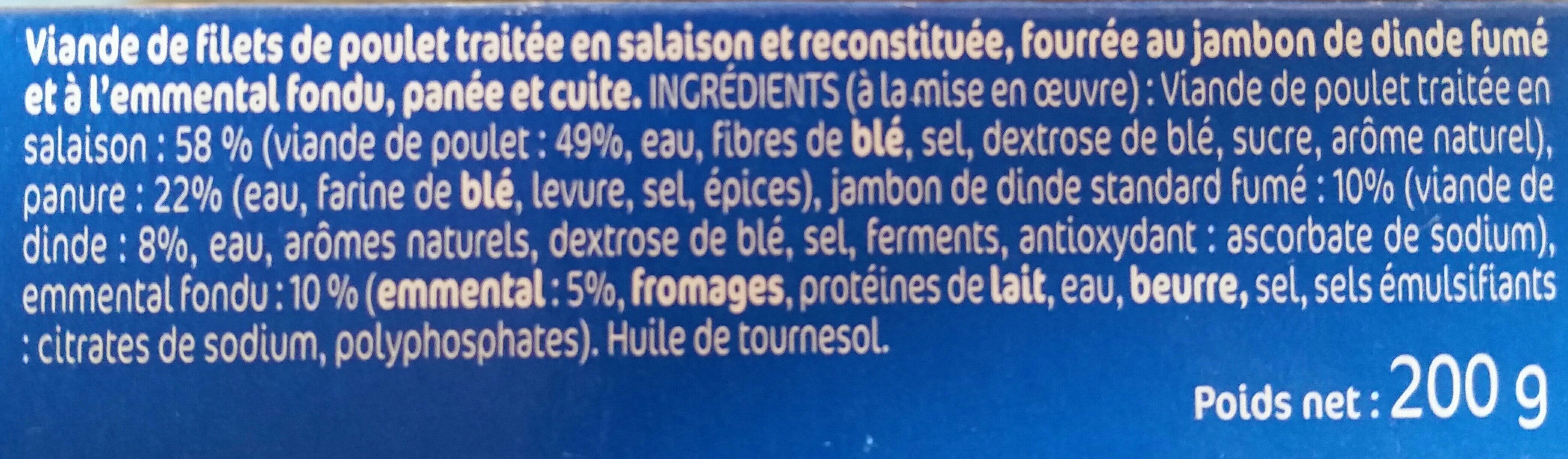Cordon bleu - Ingredients