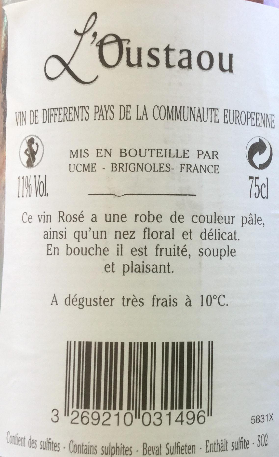 Robe rose pale vin