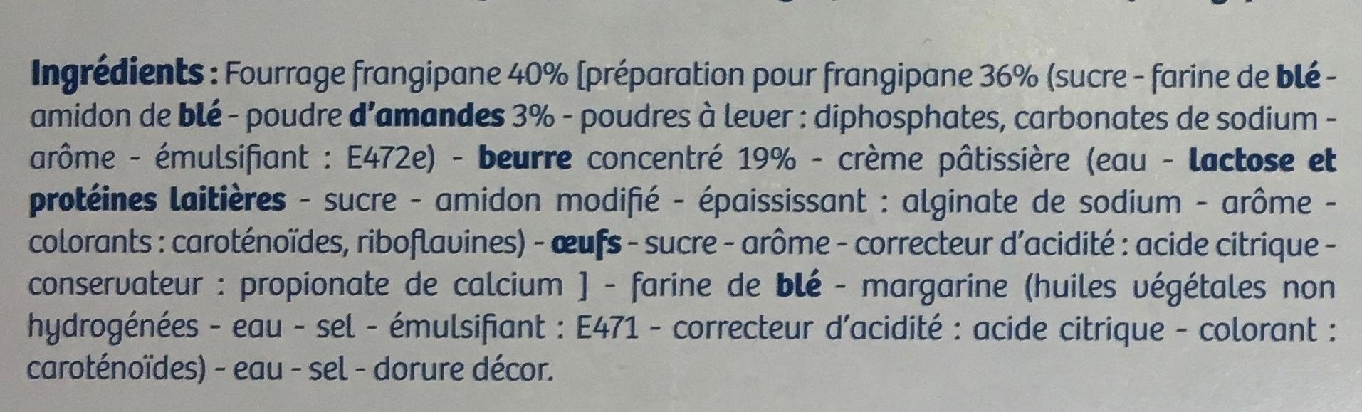 Galette des Rois 40% Frangipane - Ingredients - fr