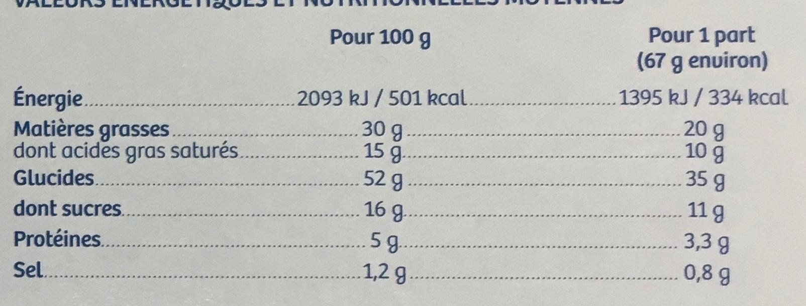 Galette des Rois 40% Frangipane - Nutrition facts - fr