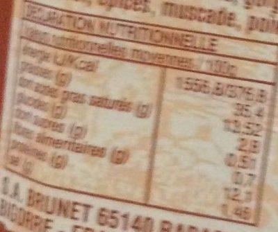 Terrine de sanglier - Informations nutritionnelles - fr