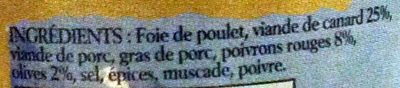 Terrine de Canard - Ingrédients - fr