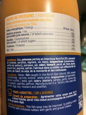 Soupe de poissons - Informations nutritionnelles - fr