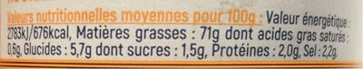 Rouille Gastromer, - Informations nutritionnelles - fr