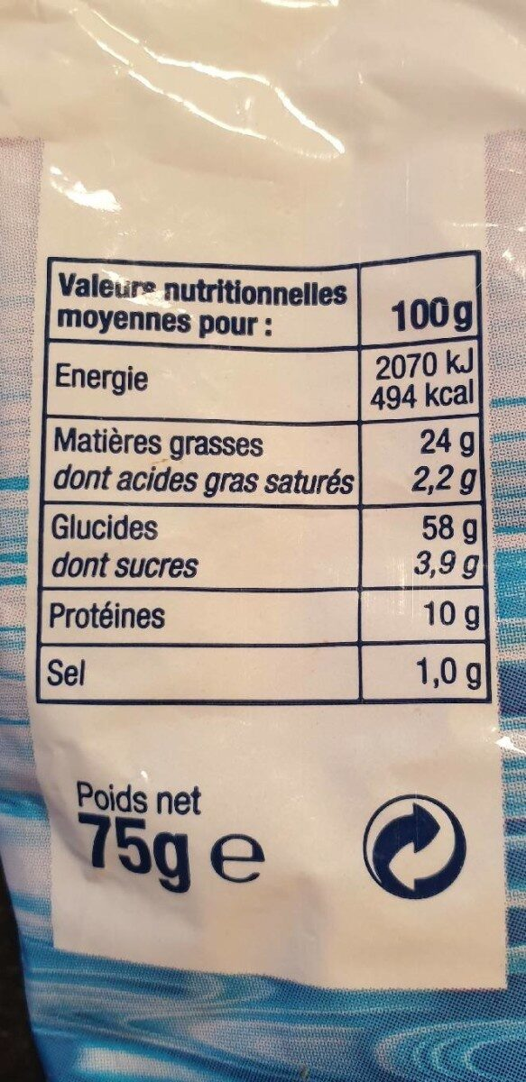 Croûtons Gastromer Nature, 75g - Informations nutritionnelles - fr