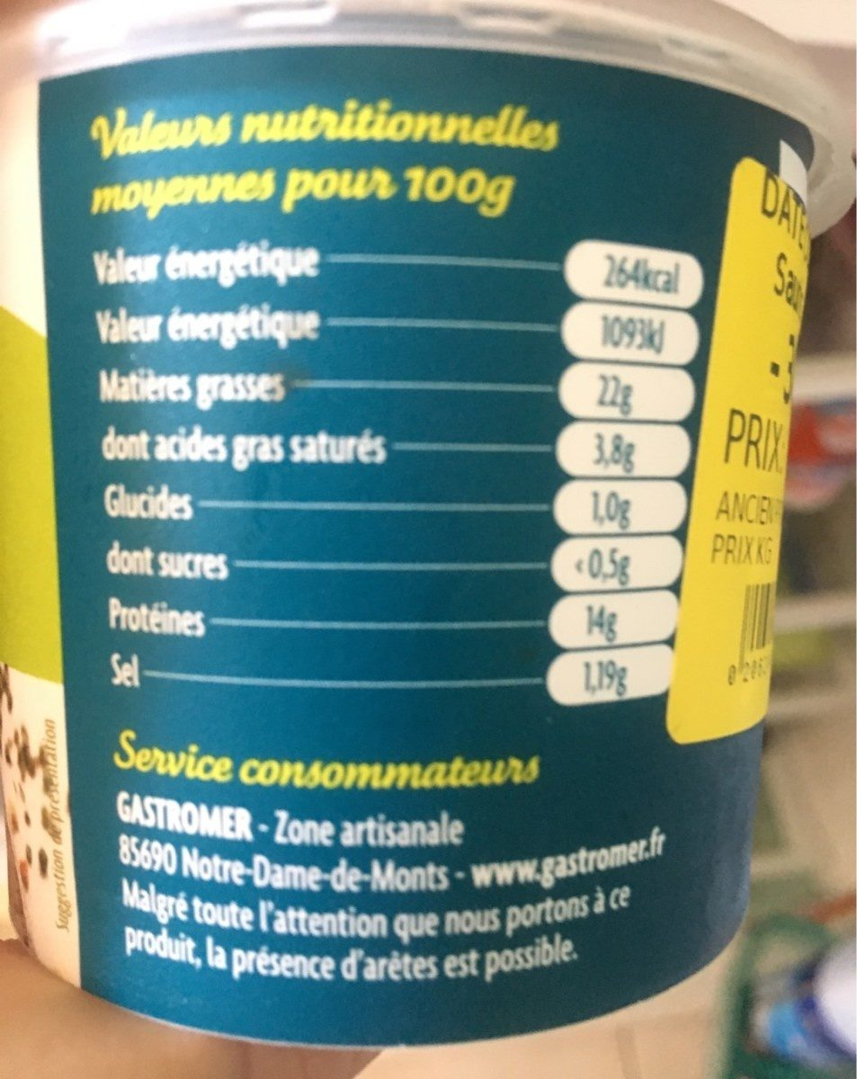 Rillette De Maquereaux Gastomer, - Nutrition facts