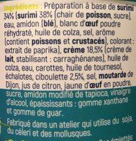 Emiettés surimi crème ciboulette GASTROMER - Ingrédients - fr