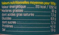 Emiettés surimi crème ciboulette GASTROMER - Informations nutritionnelles - fr
