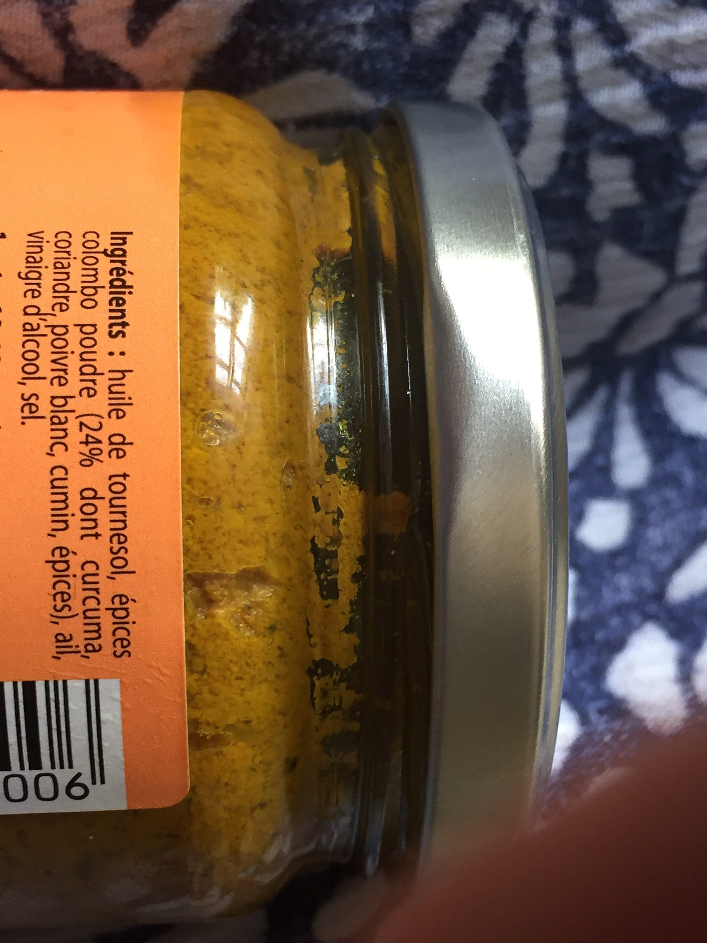 Pâte Pour Colombo - Ingrediënten