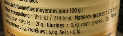 Lait de Coco Bio - Nutrition facts - fr