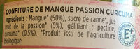 Confiture de mangue, passion, curcuma - Ingredients