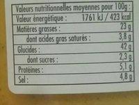 Puree De Curcuma 105G - Nutrition facts