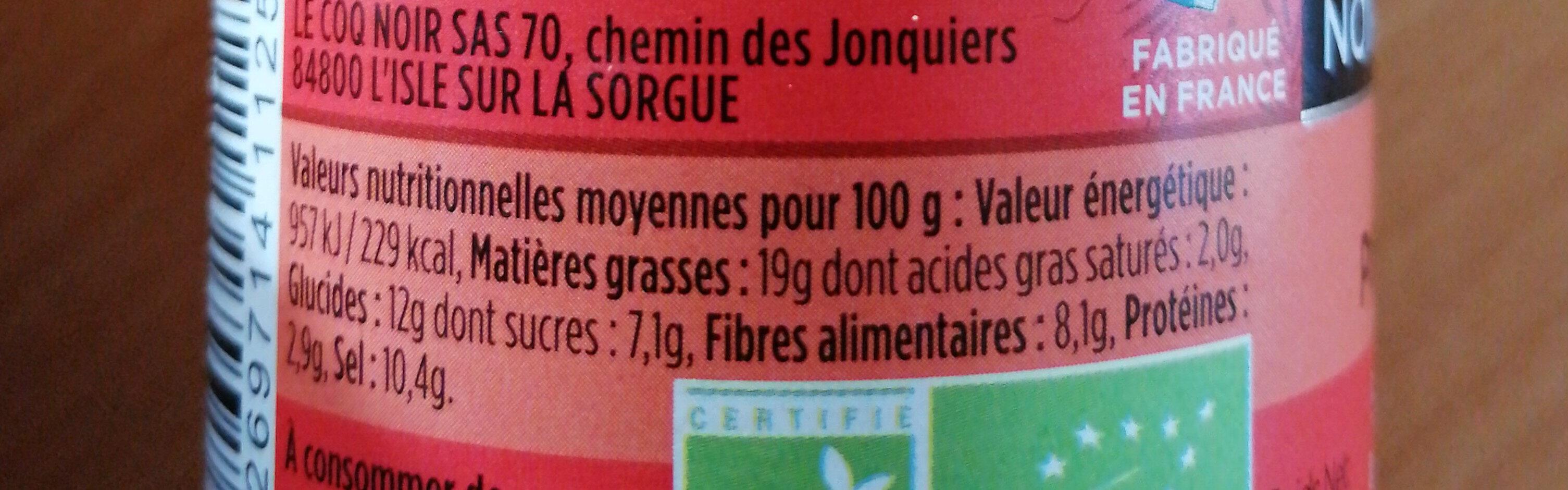 Purée de piment rouge - Informations nutritionnelles - fr