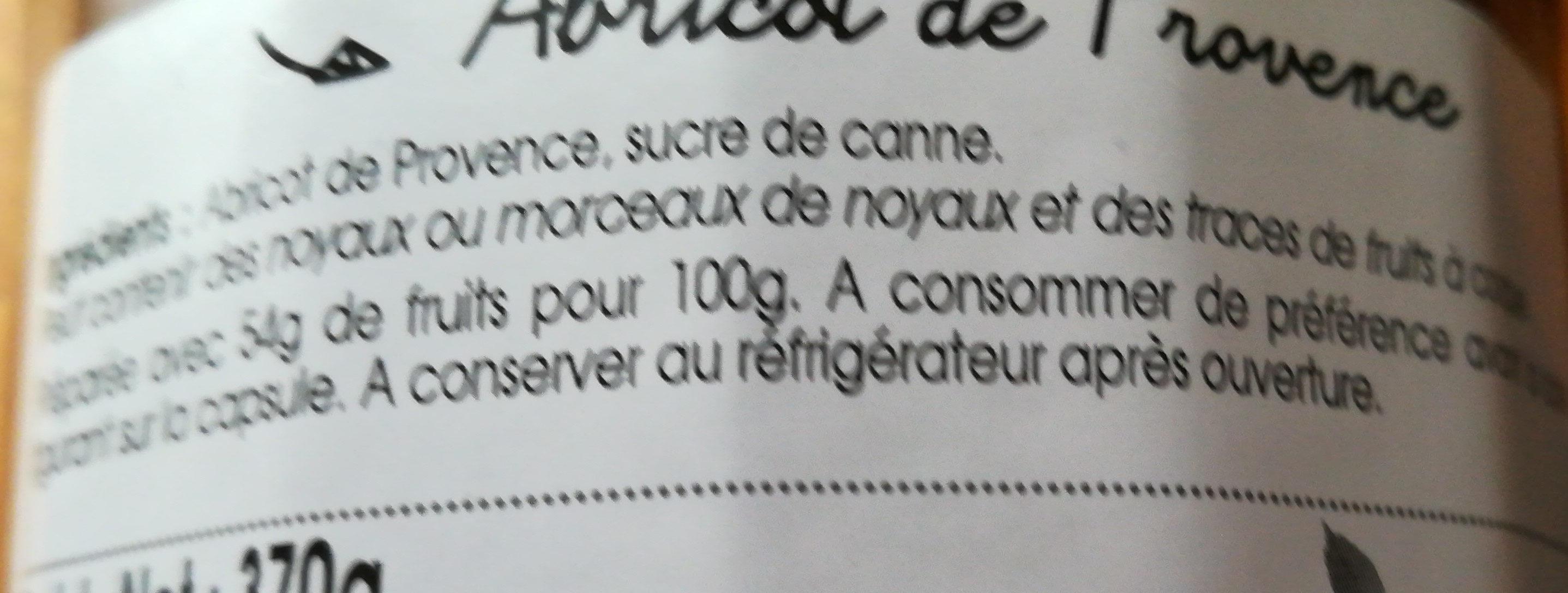 Confiture Abricot De Provence - Ingrediënten