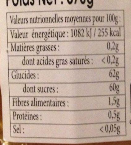 Confiture Abricot De Provence - Voedingswaarden