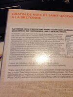Gratin noix saint jacques a la bretonne - Ingrédients