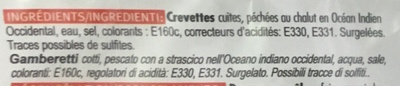 Crevettes décortiquées cuites - Ingrediënten - fr