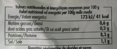 Crevettes décortiquées cuites - Voedingswaarden - fr