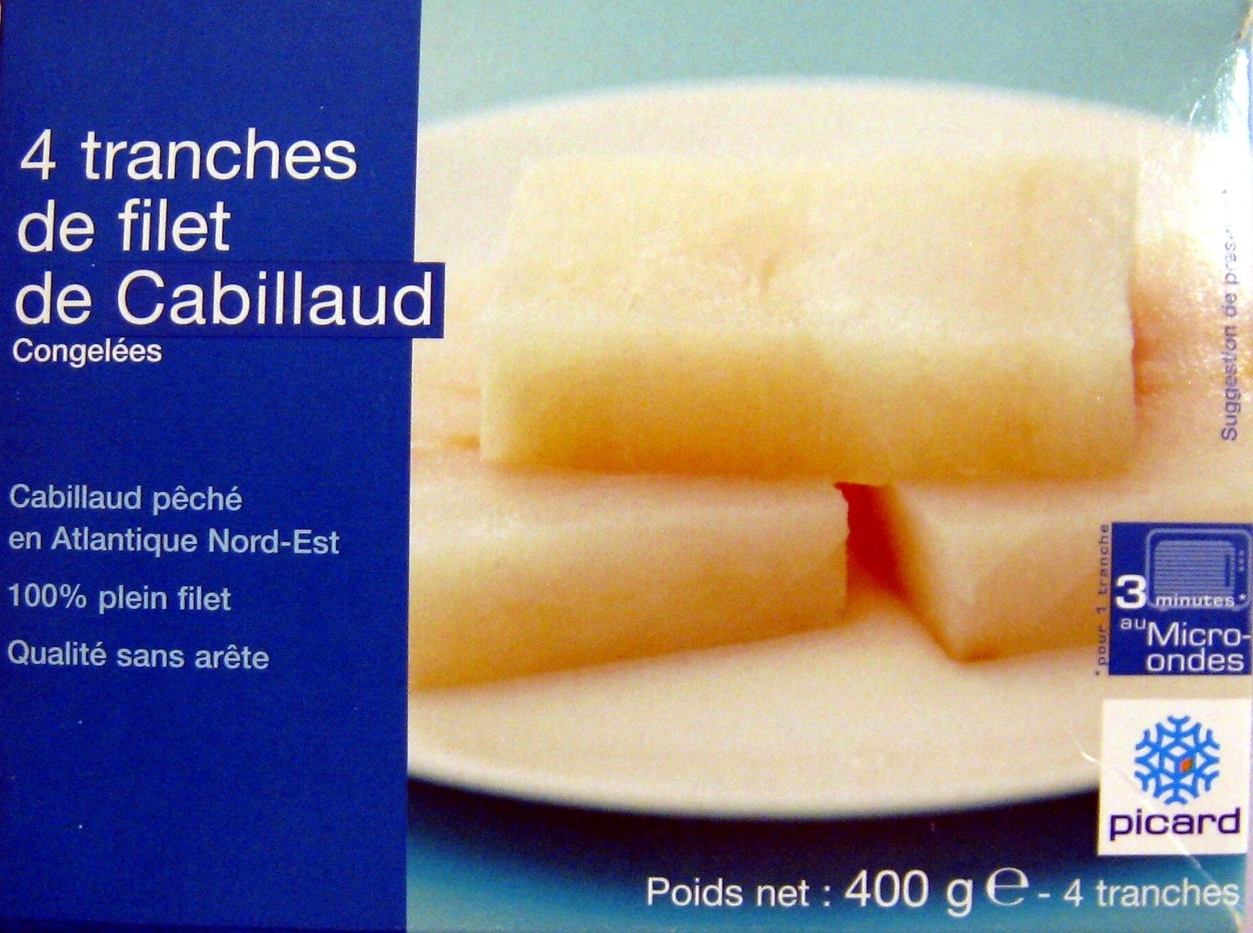 4 Tranches de filet de Cabillaud - Produit