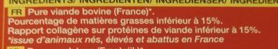 steaks hachés - Ingrédients - fr