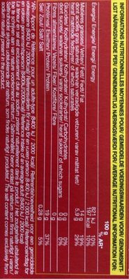 steaks hachés - Informations nutritionnelles - fr