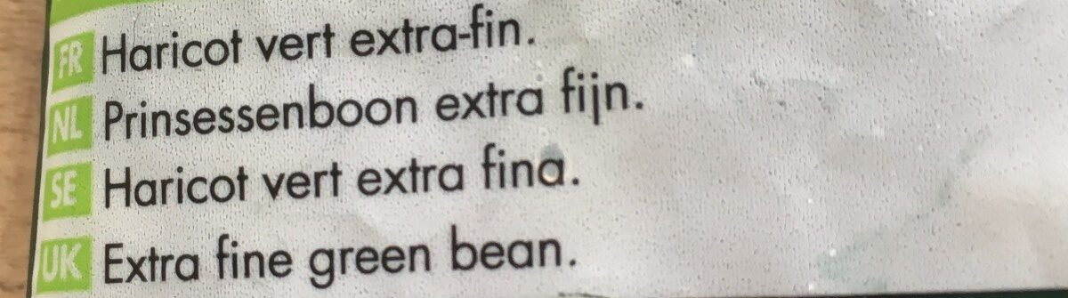 Haricots verts extra-fins - Ingrediënten - fr