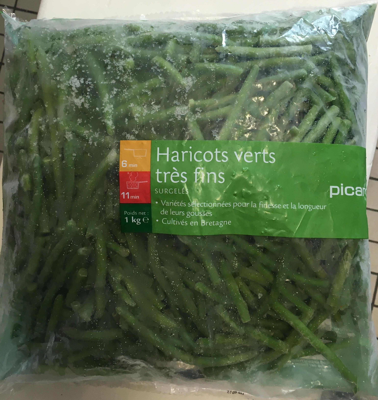 haricots verts tr s fins surgel s picard 1 kg. Black Bedroom Furniture Sets. Home Design Ideas