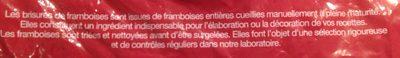Framboises Brisées 1 Kilo - Ingrediënten - fr
