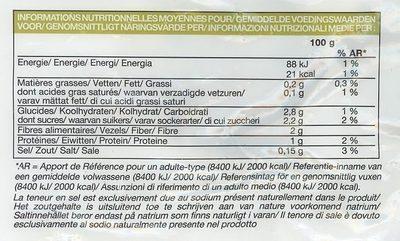 Purée de céleri-rave - Informations nutritionnelles