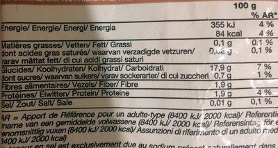 Purée de pomme de terre - Nutrition facts - fr