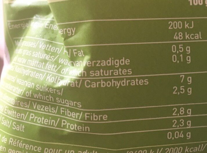 Jardinière Bio De Légumes 600g - Valori nutrizionali - fr
