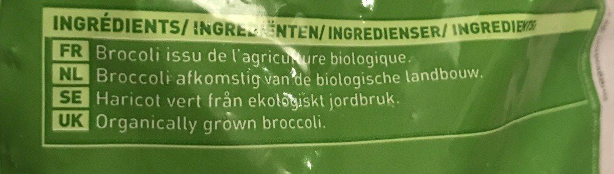 Fleurettes de brocolis Bio - Ingrédients - fr
