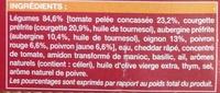 Gratin de Légumes à la Provençale, Surgelé - Ingrediënten - fr