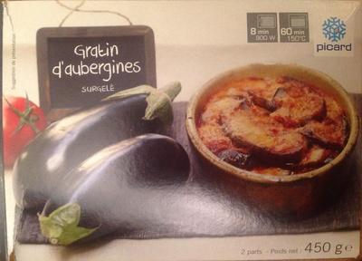 Gratin d'aubergines, Surgelé - Produit