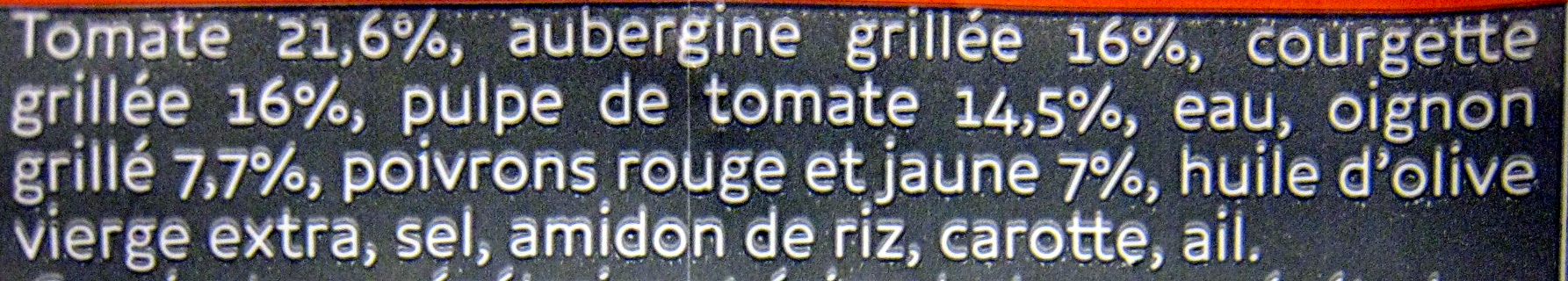 Ratatouille Cuisinée - Ingredients