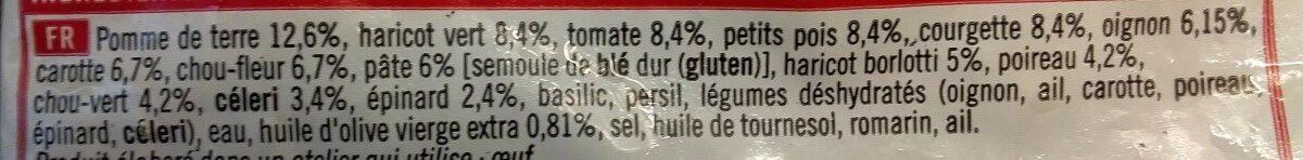 Mélange pour Potage Minestrone - Ingredients
