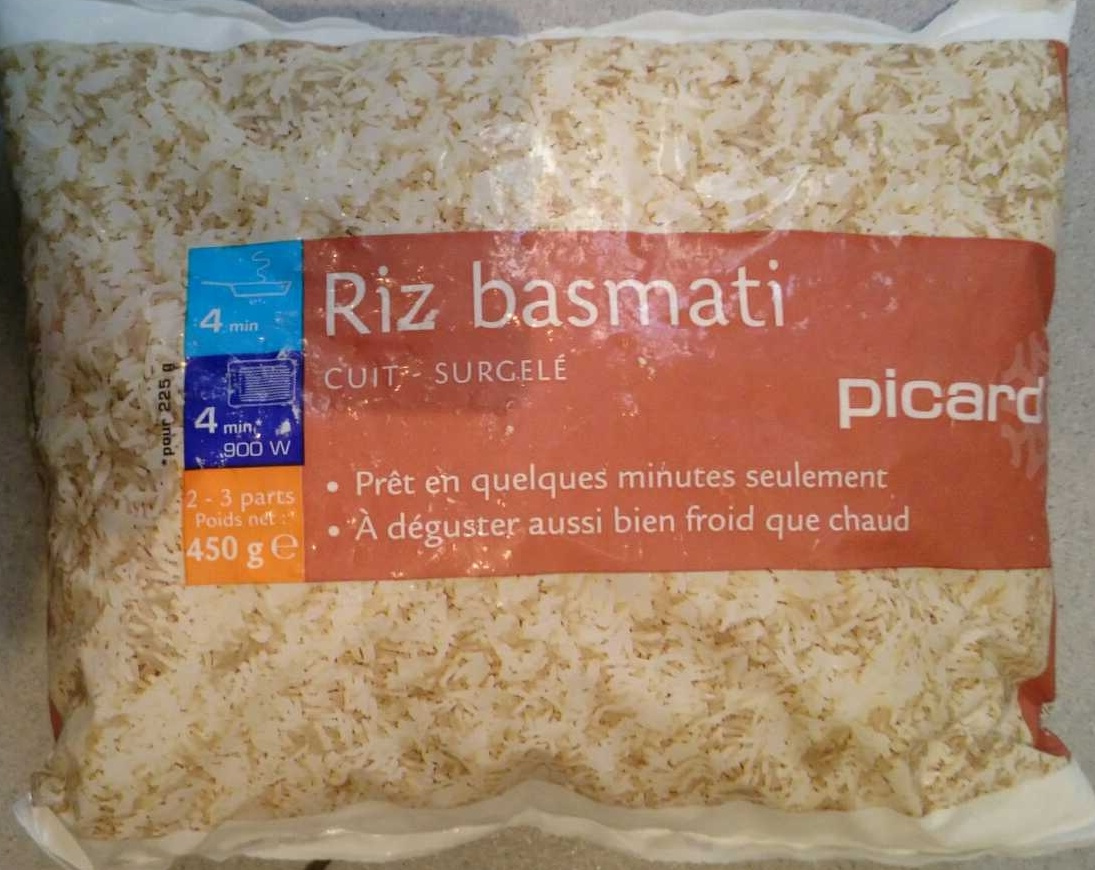 riz basmati cuit surgel picard 450 g. Black Bedroom Furniture Sets. Home Design Ideas