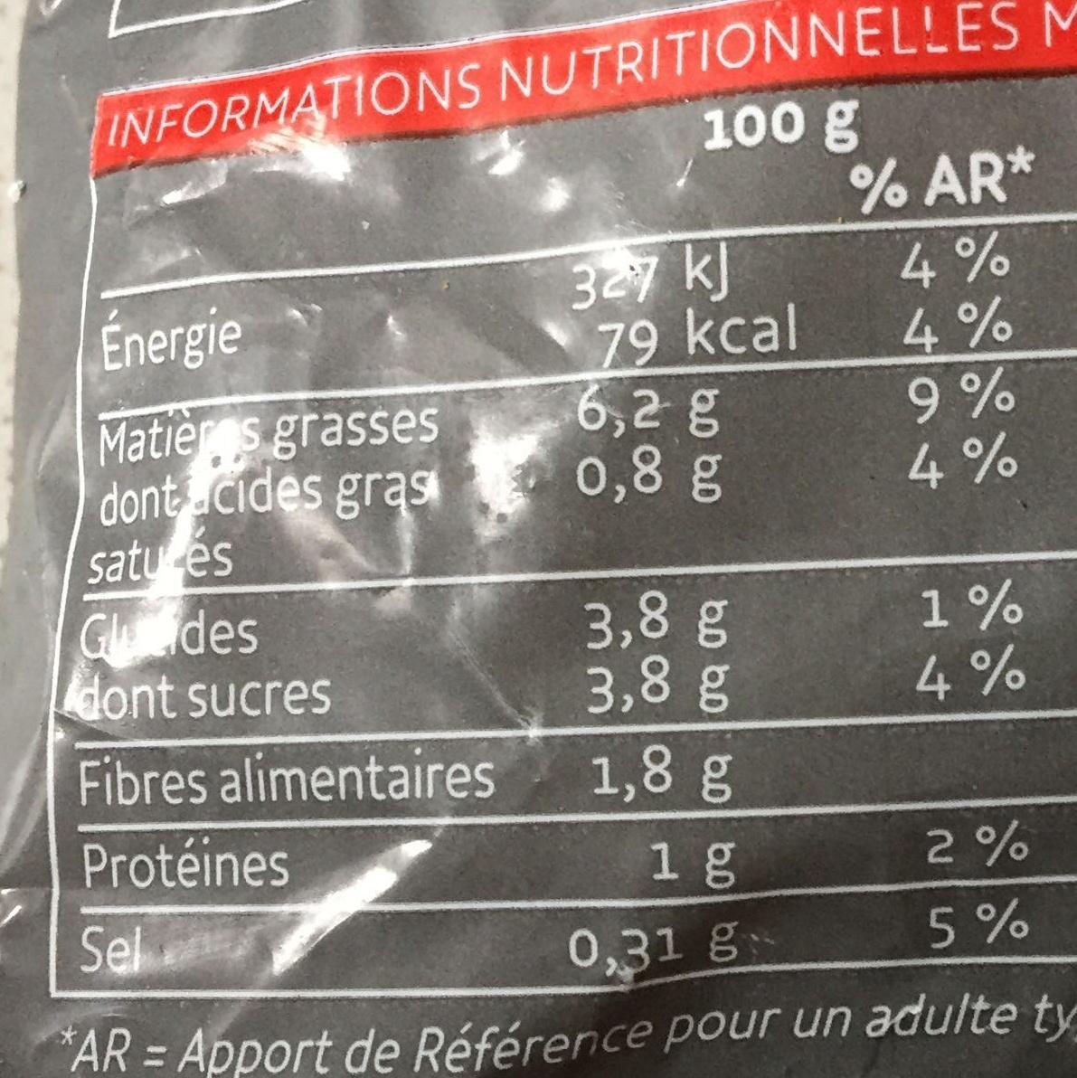 Légumes à la basquaise - Informations nutritionnelles - fr