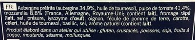 Gratin d'Aubergines - Ingrédients - fr