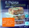 8 palets de légumes préfrits - surgelés Courgettes jaune et verte, petit pois doux carotte - Produit