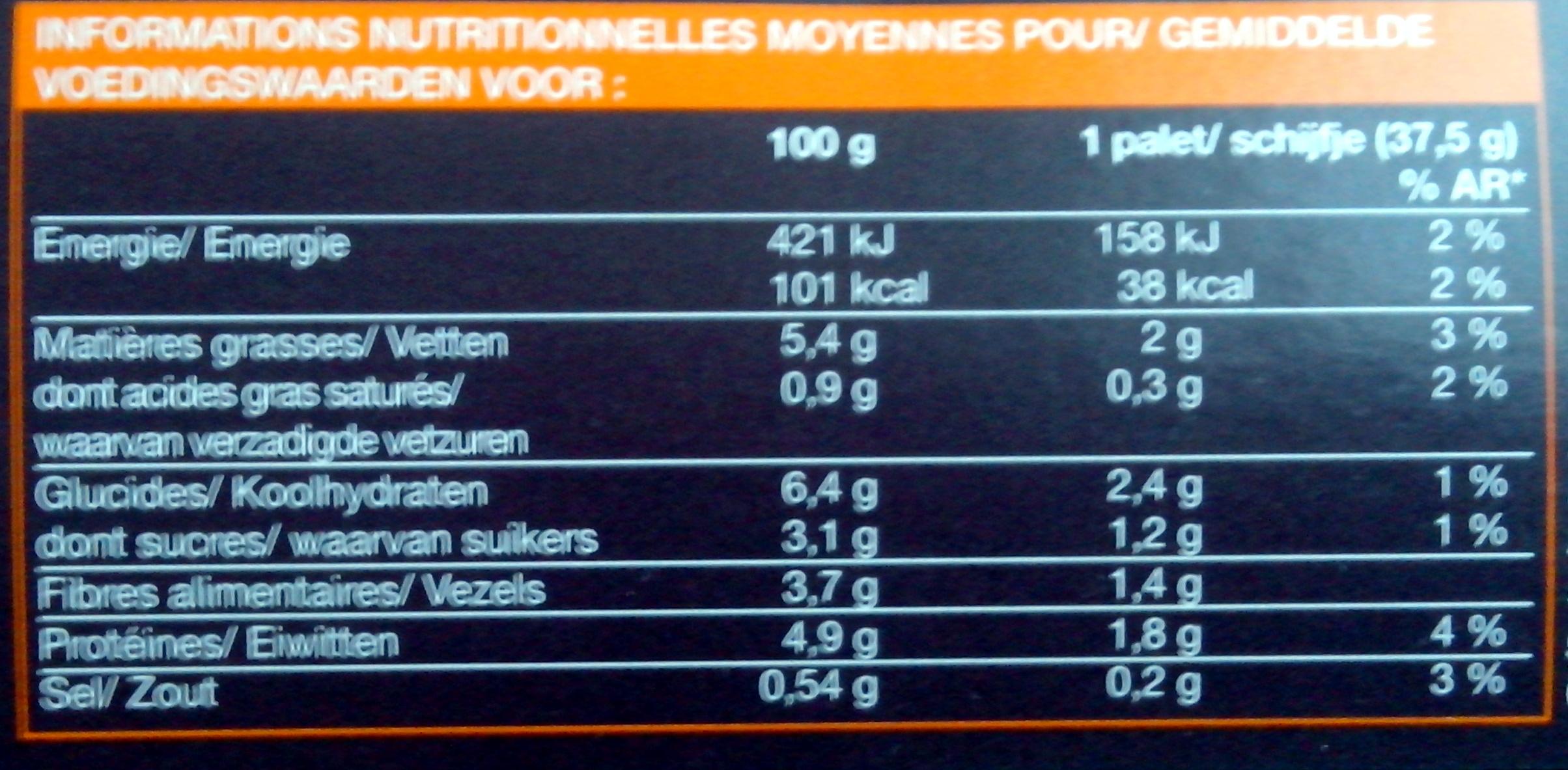 8 palets de légumes préfrits - surgelés Courgettes jaune et verte, petit pois doux carotte - Voedigswaarden