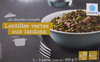 Lentilles vertes aux lardons, Surgelées - Produit