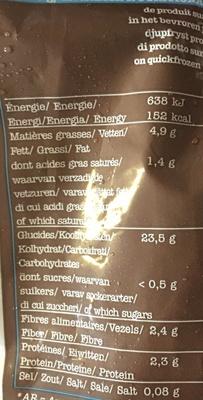 Pommes allumettes - Voedingswaarden - fr