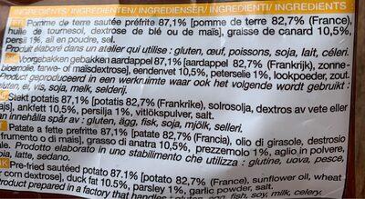 Poêlée à la sarladaise - Ingrediënten