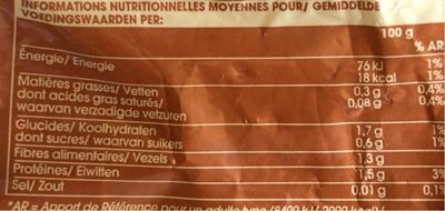 Mélange tradition, Congelé - Nutrition facts - fr
