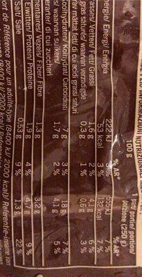 Potage Minestrone - Informations nutritionnelles - fr