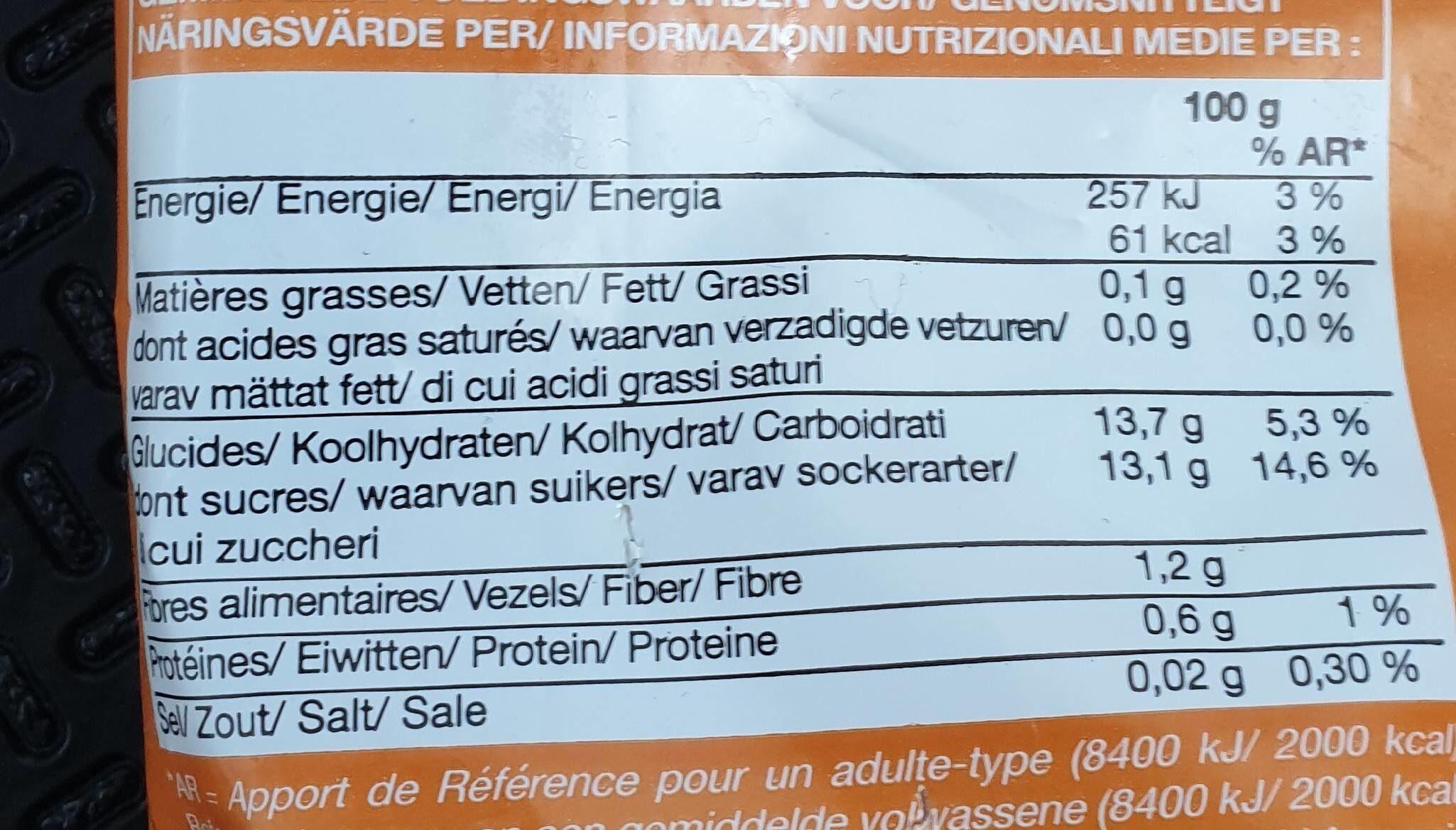 Ananas En Morceaux - Nutrition facts - fr