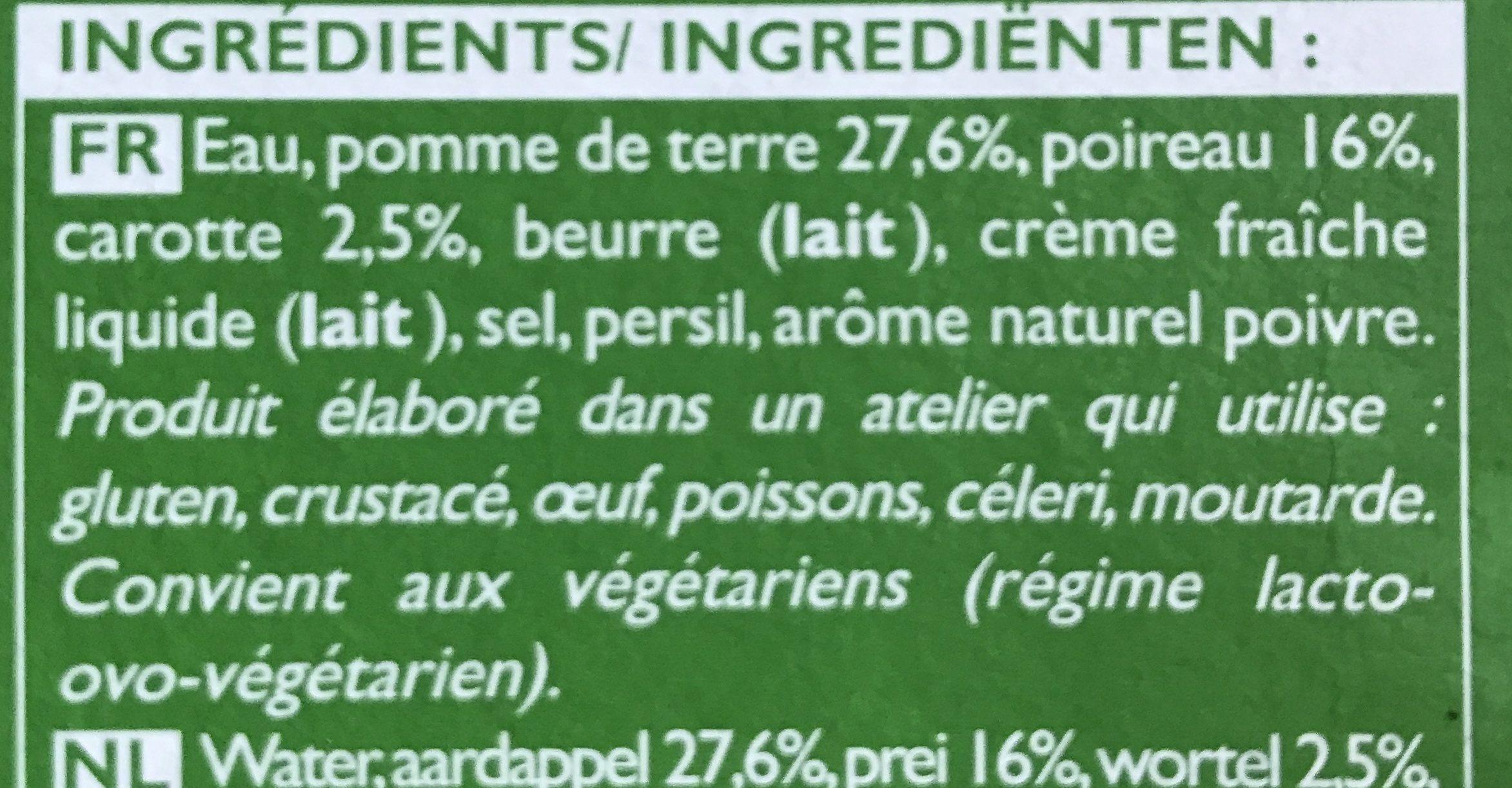 So Soupe Poireau Pomme de Terre - Ingrediënten