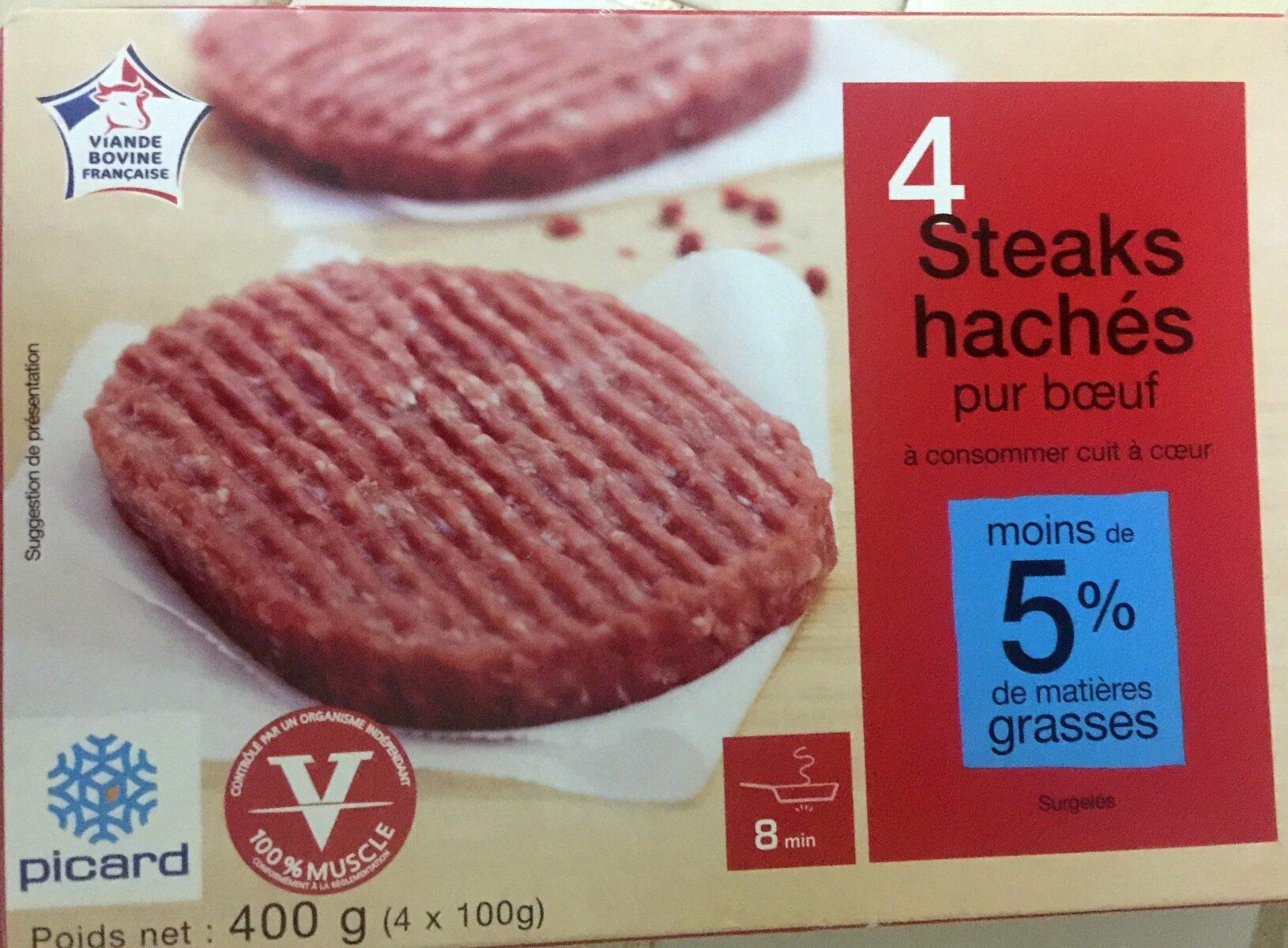 4 steaks hachés - Produit - fr