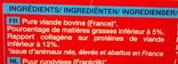 4 steaks hachés - Ingrédients - fr
